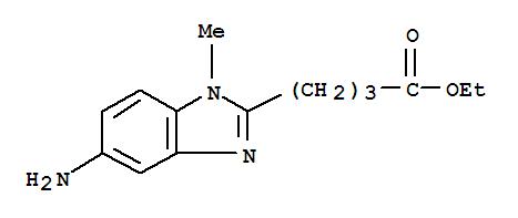 Molecular Structure of 3543-73-5 (1-Methyl-5-amino-1H-benzimidazole-2-butanoic acid ethyl ester)