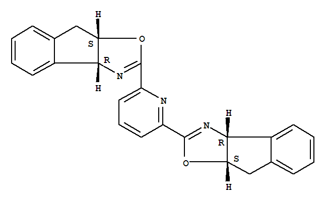 Molecular Structure of 357209-32-6 (8H-Indeno[1,2-d]oxazole,2,2'-(2,6-pyridinediyl)bis[3a,8a-dihydro-, (3aR,3'aR,8aS,8'aS)-)