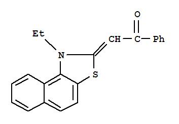 35976-48-8,Ethanone,2-(1-ethylnaphtho[1,2-d]thiazol-2(1H)-ylidene)-1-phenyl-,Naphtho[1,2-d]thiazole,ethanone deriv.; N-Ethyl-2-benzoylmethylene-b-naphthothiazoline