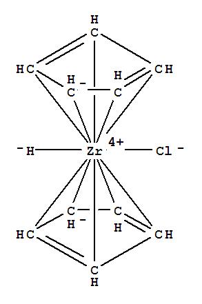 Molecular Structure of 37342-97-5 (Zirconium, chlorobis(h5-2,4-cyclopentadien-1-yl)hydro-)
