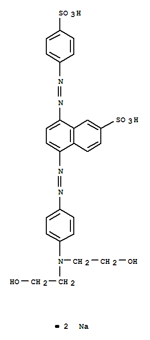 Molecular Structure of 38124-99-1 (2-Naphthalenesulfonicacid,5-[2-[4-[bis(2-hydroxyethyl)amino]phenyl]diazenyl]-8-[2-(4-sulfophenyl)diazenyl]-,sodium salt (1:2))