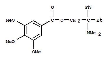 Molecular Structure of 39133-31-8 (Benzoic acid,3,4,5-trimethoxy-, 2-(dimethylamino)-2-phenylbutyl ester)