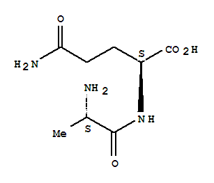 Molecular Structure of 39537-23-0 (L-Glutamine, L-alanyl-)