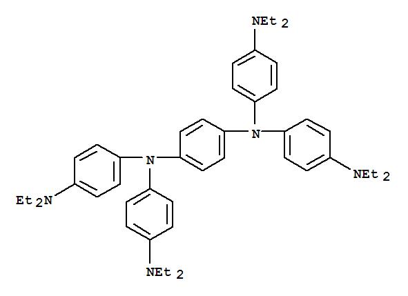 3956-73-8,1,4-Benzenediamine,N1,N1,N4,N4-tetrakis[4-(diethylamino)phenyl]-,1,4-Benzenediamine,N,N,N',N'-tetrakis[4-(diethylamino)phenyl]- (9CI);p-Phenylenediamine, N,N,N',N'-tetrakis[p-(diethylamino)phenyl]-(7CI,8CI);N,N,N',N'-Tetrakis[p-(diethylamino)phenyl]-1,4-phenylenediamine;Tetrakis(p-diethylaminophenyl)-p-phenylenediamine;