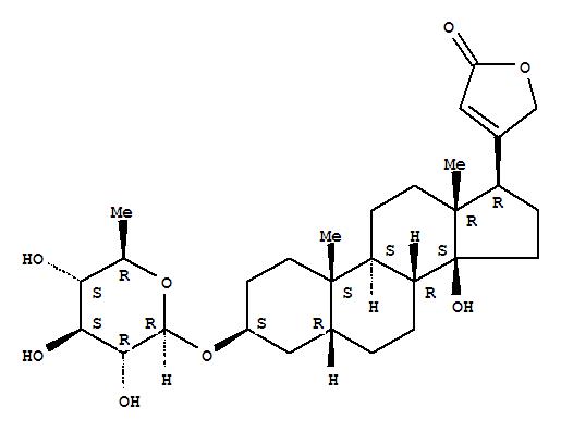40950-57-0,Card-20(22)-enolide,3-[(6-deoxy-b-D-glucopyranosyl)oxy]-14-hydroxy-,(3b,5b)- (9CI),5b-Card-20(22)-enolide, 3b,14-dihydroxy-, 6-deoxyglucoside(7CI); Digitoxigenin 6-deoxy-b-D-glucoside; Digitoxigenin glucomethyloside