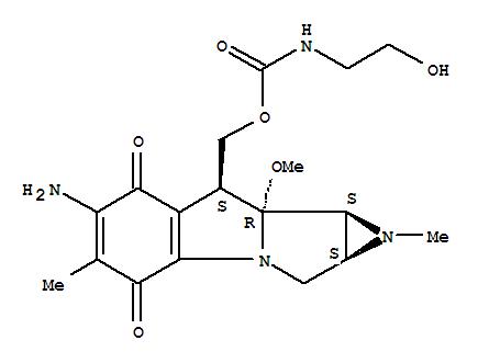Carbamic acid,(2-hydroxyethyl)-,(6-amino-1,1a,2,4,7,8,8a,8b-octahydro-8a-methoxy-1,5-dimethyl-4,7-dioxoazirino[2',3':3,4]pyrrolo[1,2-a]indol-8-yl)methylester, [1aS-(1aa,8b,8aa,8ba)]- (9CI)