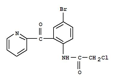 Molecular Structure of 41526-21-0 (Acetamide,N-[4-bromo-2-(2-pyridinylcarbonyl)phenyl]-2-chloro-)