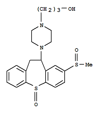Molecular Structure of 41931-98-0 (1-Piperazinepropanol,4-[10,11-dihydro-8-(methylsulfinyl)-5-oxidodibenzo[b,f]thiepin-10-yl]-)