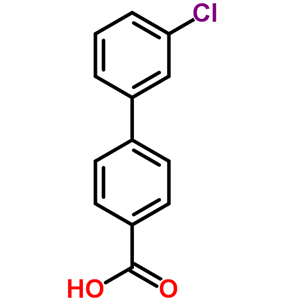 5728-43-8,3'-Chlorobiphenyl-4-carboxylic acid,3'-Chloro-[1,1'-biphenyl]-4-carboxylic acid;3'-Chloro-1,1'-biphenyl-4-carboxylic acid;[1,1'-Biphenyl]-4-carboxylic acid, 3'-chloro-;