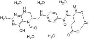 Molecular Structure of 41927-89-3 (Folinic acid calcium salt pentahydrate)