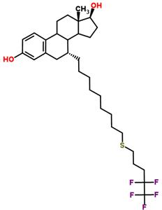 Molecular Structure of 153004-31-0 ((7α,17β)-7-{[9-(4,4,5,5,5-Pentafluoropentyl)thio]nonyl}eatra-1,3,5(10)-triene-3,17-diol)