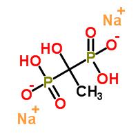 Molecular Structure of 7414-83-7 (Phosphonicacid, P,P'-(1-hydroxyethylidene)bis-, sodium salt (1:2))