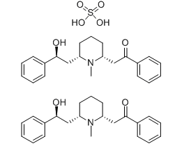 2-[(2r,6s)-6-[(2s)-2-hydroxy-2-phenylethyl]-1-methylpiperidin-2-yl]-1-phenylethanone;sulfuric Acid