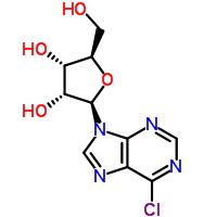 Molecular Structure of 2004-06-0 (9H-Purine,6-chloro-9-ribofuranosyl-)