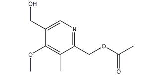 2-Acetoxymethyl-5-hydroxymethyl-4-methoxy-3-methylpyridine