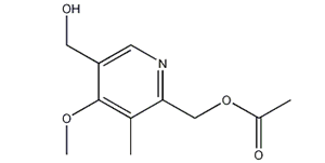 Molecular Structure of 120003-77-2 (2-Acetoxymethyl-5-hydroxymethyl-4-methoxy-3-methylpyridine)