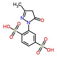 Molecular Structure of 54817-63-9 (1,4-Benzenedisulfonicacid, 2-(4,5-dihydro-3-methyl-5-oxo-1H-pyrazol-1-yl)-)