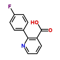 Molecular Structure of 101419-78-7 (3-Pyridinecarboxylic acid, 2-(4-fluorophenyl)-)