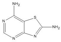 Molecular Structure of 30162-02-8 (Thiazolo[4,5-d]pyrimidine-2,7-diamine)