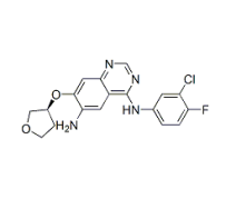 Molecular Structure of 314771-76-1 ((S)-N4-(3-chloro-4-fluorophenyl)-7-(tetrahydrofuran-3-yloxy)quinazoline-4,6-diamine)