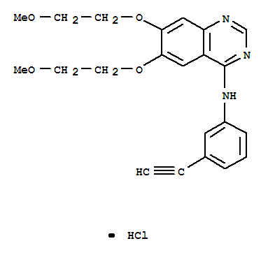 Molecular Structure of 183319-69-9 (Erlotinib hydrochloride)