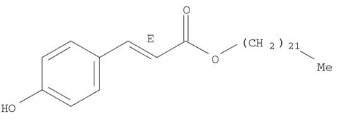 Molecular Structure of 101959-29-9 (2-Propenoic acid, 3-(4-hydroxyphenyl)-, docosyl ester, (2E)-)