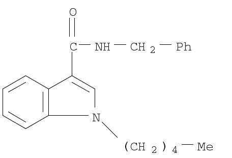 Molecular Structure of 695213-59-3 (1H-Indole-3-carboxamide, 1-pentyl-N-(phenylmethyl)-)