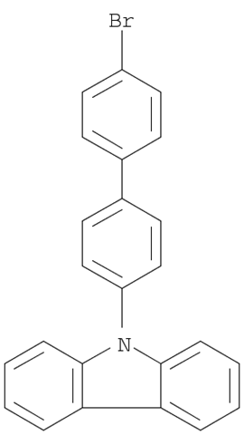 Molecular Structure of 212385-73-4 (9H-Carbazole, 9-(4'-bromo[1,1'-biphenyl]-4-yl)-)