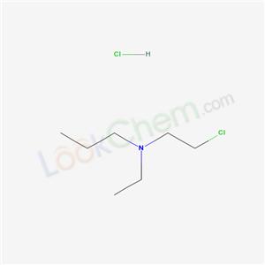 Molecular Structure of 13105-93-6 (Ethyl-n-propyl-beta-chloroethylamine hydrochloride)