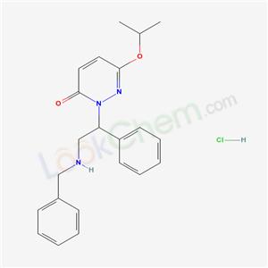 17072-79-6,2-(alpha-((Benzylamino)methyl)benzyl)-6-isopropoxy-3(2H)-pyridazinone hydrochloride,