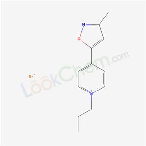 20242-33-5,Pyridinium, 1-propyl-4-(3-methyl-5-isoxazolyl)-, bromide,