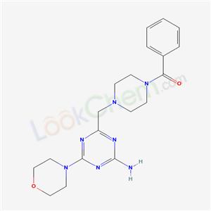 21868-52-0,1-((4-Amino-6-morpholino-s-triazin-2-yl)methyl)-4-benzoylpiperazine,