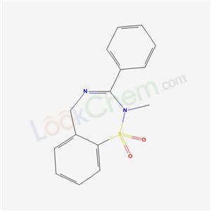40431-23-0,2,5-Dihydro-2-methyl-3-phenyl-1,2,4-benzothiadiazepine 1,1-dioxide,