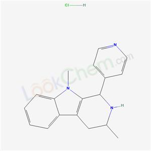 40717-59-7,2,3,4,9-Tetrahydro-3,9-dimethyl-1-(4-pyridinyl)-1H-pyrido(3,4-b)indole hydrochloride,