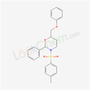 40798-80-9,Tetrahydro-3-((4-methylphenyl)sulfonyl)-6-(phenoxymethyl)-2-phenyl-2H-1,3-oxazine,