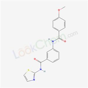 5964-78-3,4-methoxy-N-[3-(1,3-thiazol-2-ylcarbamoyl)phenyl]benzamide,