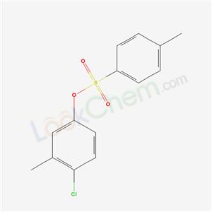 Molecular Structure of 599-85-9 (1-chloro-2-methyl-4-(4-methylphenyl)sulfonyloxy-benzene)