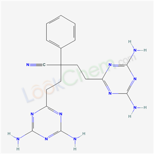 5397-11-5,4-(4,6-diamino-1,3,5-triazin-2-yl)-2-[2-(4,6-diamino-1,3,5-triazin-2-yl)ethyl]-2-phenyl-butanenitrile,