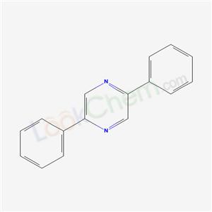 CAS NO:5398-63-0 Pyrazine, 2,5-diphenyl- Molecular Structure