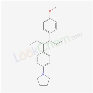 6286-42-6,1-[4-[4-(4-methoxyphenyl)hexan-3-yl]phenyl]pyrrolidine,
