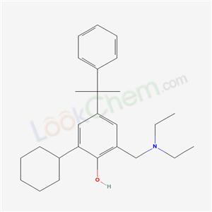5442-67-1,2-cyclohexyl-6-(diethylaminomethyl)-4-(2-phenylpropan-2-yl)phenol,