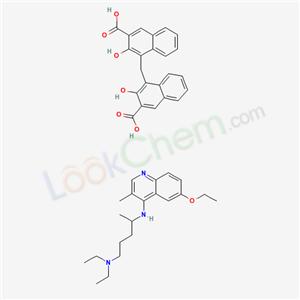 5426-26-6,4-[(3-carboxy-2-hydroxy-naphthalen-1-yl)methyl]-3-hydroxy-naphthalene-2-carboxylic acid; N-(6-ethoxy-3-methyl-quinolin-4-yl)-N,N-diethyl-pentane-1,4-diamine,