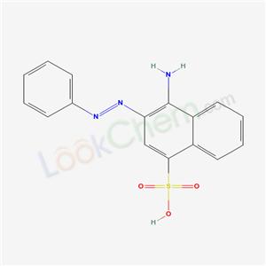 6306-36-1,4-amino-3-phenyldiazenyl-naphthalene-1-sulfonic acid,