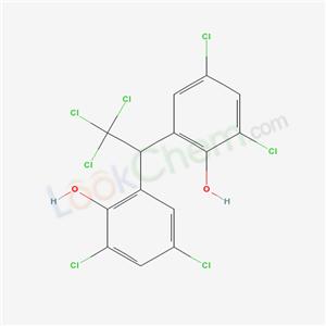 92167-59-4,2,4-dichloro-6-[2,2,2-trichloro-1-(3,5-dichloro-2-hydroxy-phenyl)ethyl]phenol,