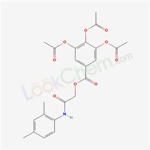 6577-44-2,(2,4-dimethylphenyl)carbamoylmethyl 3,4,5-triacetyloxybenzoate,