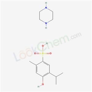 6266-81-5,4-hydroxy-2-methyl-5-propan-2-yl-benzenesulfonic acid; piperazine,piperazinium thymol-6-sulphonate