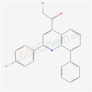 7596-34-1,2-bromo-1-[2-(4-chlorophenyl)-8-phenyl-quinolin-4-yl]ethanone,