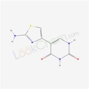 57412-56-3,5-(2-amino-1,3-thiazol-4-yl)-1H-pyrimidine-2,4-dione,