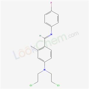 1691-42-5,m-Toluidine, N, N-bis (2-chloroethyl)-4-[N-(p-fluorophenyl)formimidoyl]-,