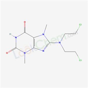 94520-76-0,8-[bis(2-chloroethyl)amino]-3,7-dimethyl-purine-2,6-dione,